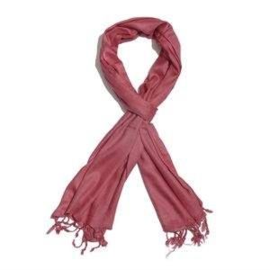 Berry 100% Modal Matty Weave Scarf with Fringes